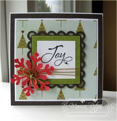Holiday card by Marisa Ritzen using Verve Stamps.