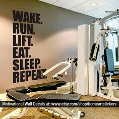 Gym Wall Decal Exercise Stickers Workout Fitness Motivational Quote Sku Wrlesr