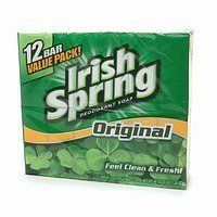 Irish Spring Bath Bar Soap, Original, 3.75 oz. Bars, 12-Count by Irish Spring. $8.84. Long lasting deodorant protection. Made in the USA. Invigorating scent. Irish Spring Bar Soap helps keep you feeling clean and fresh! Designed for men…but women like it too!