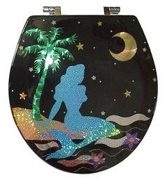 Glow-in-the-Dark Mermaid Toilet Seat