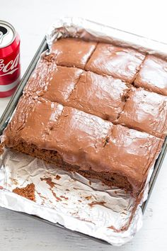 I've made a savory dip before with Coca-Cola and have always wanted to bake with itand am so glad I finally did. It's an easy, no-mixer cake that you can make in one bowl and a saucepan. Love that. The cake is supremely moist and soft thanks to a can of Coke in the batter. …