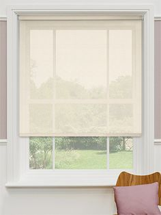 Serenity Natural Voile Roller Blind from Blinds 2go