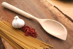 Right Handed Sugar Maple wooden spatula spoon for all around usefulness in the kitchen.