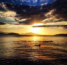 Greece North Evia Sea Sunset