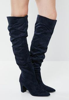 Salma boot - navy Superbalist Boots | Superbalist.com Block Heels, Two By Two, Footwear, Zip, Navy, Boots, How To Wear, Women, Fashion