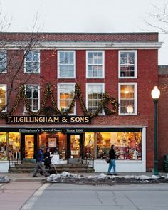 """See the """"One-Stop Shop"""" in our A Winter Getaway to Woodstock gallery New England States, New England Fall, New England Travel, England Christmas, The Places Youll Go, Places To Go, Vermont Winter, Woodstock Vermont, Old Country Stores"""