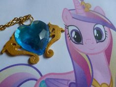 Princess cadence cutie mark necklace by ArcGunner on Etsy, $10.00