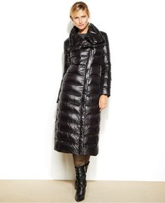 Calvin Klein Asymmetrical Maxi Down Puffer Coat on shopstyle.com