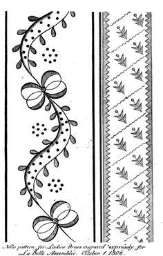 Regency Dress Embroidery Pattern
