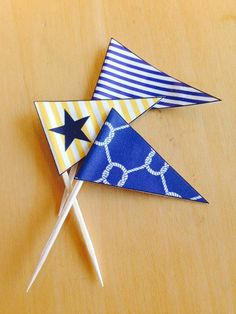 Toothpick Flags Set  Nautical Party by HostIt on Etsy, $3.99