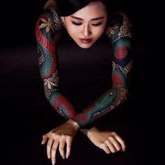 Tatouage Manchette Pour Femme Style Japonais