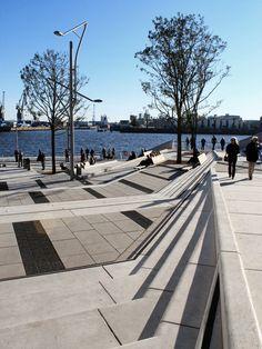 Hafen public space, Hamburg, Allemagne, par EBTM