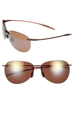 Maui Jim 'Sugar Beach - PolarizedPlus®2' 62mm Rimless Sunglasses available at #Nordstrom