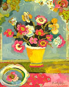 Items similar to Waterwell Giclee Canvas Print by Kimberly Hodges on Etsy Matisse, Oeuvre D'art, Painting Inspiration, Work Inspiration, Flower Art, Life Flower, Les Oeuvres, Bunt, Folk Art