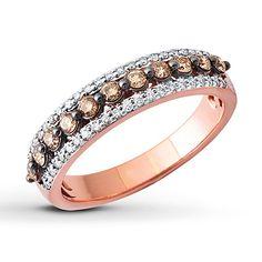 Shades of Wonder Ring 1/2 ct tw Diamonds 10K Rose Gold