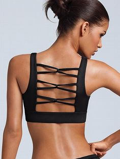 Fashion meets fitness! VSX Sport Knot-back Sport Bra