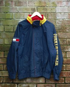 Image of Vintage Tommy Hilfiger Windbreaker Tommy Hilfiger Windbreaker,  Natural Clothing, Vintage Coat, fb49be5cf5