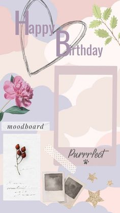 Happy Birthday Template, Happy Birthday Frame, Happy Birthday Wallpaper, Birthday Posts, Birthday Frames, Creative Instagram Stories, Instagram Story Ideas, Birthday Card With Photo, Watercolor Wallpaper Iphone