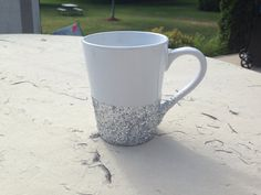 We all need a little sparkle in the morning! Available in gold too. Glitter Coffee Mug, Coffee Mugs