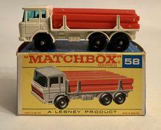 MATCHBOX LESNEY #58 DAF GIRDER TRUCK WITH ORIGINAL BOX #Matchbox #DAF