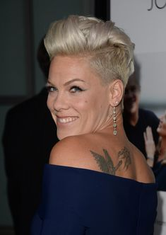 Short Hairstyles Lookbook: Pink wearing Fauxhawk (4 of 56). Pink sported a funky fauxhawk when she attended the 'Thanks for Sharing' premiere.