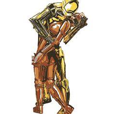 Droid Kiss - Binary Love #starwars, c3po,#galatea, #metropolis, #sciencefiction, #droid, #robot, #kiss, #mashup, #parody, #vjday, #lifemagazine, #fritzlang, #movies