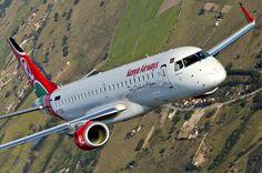 A Kenya Airways é dos clientes da Embraer na África (Divulgação)