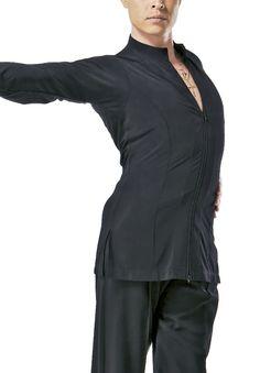Taka Mens Two-way Zipper Latin Shirt MS233 | Dancesport Fashion @ DanceShopper.com