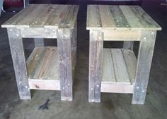 Joanne converted two wooden pallets into bedside tables for her home. The finishing touches of a dark ebony stain and varnish are still to be done but you will get the idea. http://www.home-dzine.co.za/crafts/craft-comp1.htm#
