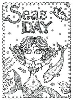 Chubby Mermaid Coloring Pages