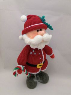 Santa amigurumi crochet pattern pdf by jasminetoys on Etsy Crochet Santa, Crochet Amigurumi, Christmas Crochet Patterns, Crochet Cross, Crochet Toys Patterns, Christmas Knitting, Amigurumi Doll, Crochet Dolls, Knitting Patterns