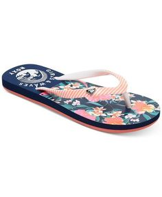 b1a8abccaabb Roxy Floral Flip-Flop Sandals