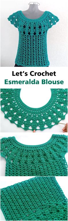Step By Step To Crochet Esmeralda Blous