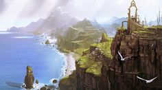 Final Fantasy: Fortress Images and Videos Paint a Beautiful Picture - Mandatory Landscape Concept, Fantasy Landscape, Environment Concept, Environment Design, Fantasy Places, Fantasy World, Fantasy Concept Art, Fantasy Art, Final Fantasy