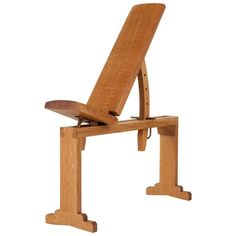 Asa Pingree Tidewalker Workout Bench, Quartersawn White Oak with Brass Hardware For Sale at Home Furniture, Modern Furniture, Outdoor Furniture, Apartment Furniture, Wooden Tops, Wooden Diy, Southwestern Benches, Diy Home Gym, Iron Bench