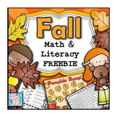 Free Fall Math & Literacy Printable Pack from sponsor @educents -- limited time!