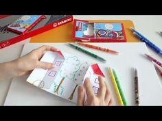 Návod na domeček z papíru - tvoření pro děti - YouTube