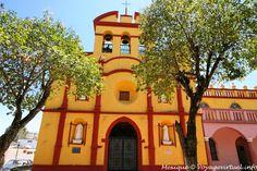 Comitan Chiapas Eglise Jaune Rouge Mexico