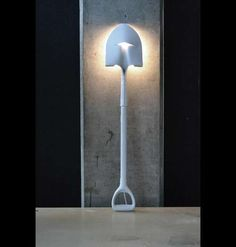 Do it yourself shovel lamp. Why again would I want a lamp like this? lol