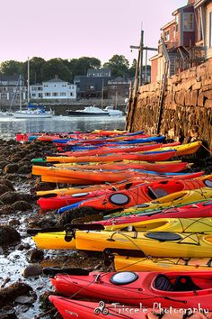 Beached kayaks~Hurry, we must save them.