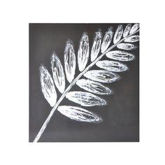 Sunpan 'White Leaf' Contemporary Canvas Wall Art - a fun shape to paint!!!