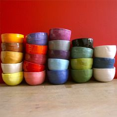 Colourful Bowls.