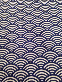 Tissu à motif japonais seigaiha Vagues par BazarPetitesPipelett