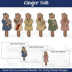 Ginger Folks Clipart Collection - Immediate Download (You can purchase)