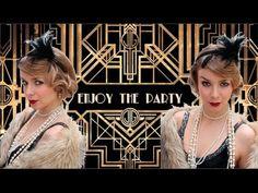 Great Gatsby Hair & Makeup Tutorial / Anos 20 - SÉRIE CARNAVAL   Alice - Golden Locks - YouTube