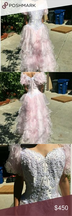 Beautiful Vintage Pink Dress Perfect Condition  worn once  needs a little dry cleaning on the ends Dresses