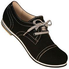 Aris Allen Women Black Canvas Captoe Dance Shoes