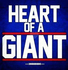 Heart of a NY & NJ Giant Forever!!!