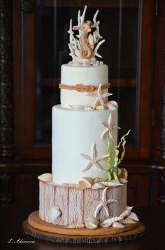 Beach Seashells Cake - Cake by More_Sugar
