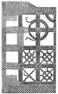 cut open-work pattern..